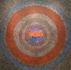 James Juthstrom (1925-2007) Untitled (Orange Circles), circa 1980s acrylic on canvas 67.25 x 66.25 inches