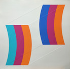 Charles Hinman Double Kite, 1970  silkscreen on embossed paper, edition of 100, signed 26 x 26 inches