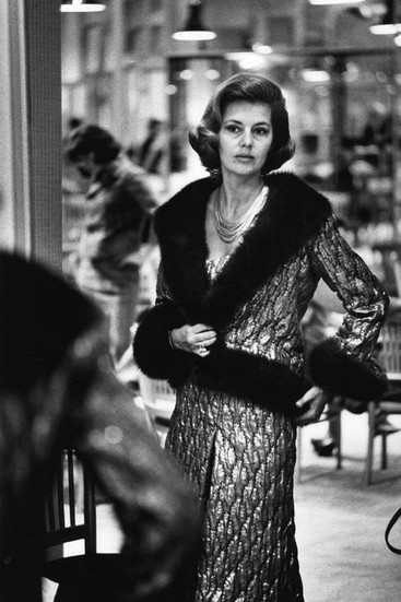 Cyd Charisse Wearing Chanel, House of Chanel, rue Cambon, Paris Photograph circa 1962-69 (printed later) gelatin silver print, AP, signed Image Size: 14.5 x 9.5 inches   36.8 x 24.1 cm Paper Size: 16 x 12 inches   40.6 x 30.5 cm  Photograph by Hatami (1928-2017)