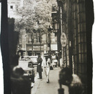 Douglas Kirkland  Mlle Chanel walking from the Ritz to the House of Chanel, rue Cambon  photograph 1962 [printed later] platinum / palladium print, edition of 12, signed and numbered paper size 20 x 16 inches