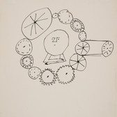 Untitled (Thinking 2), circa 1950s ink on paper, signed 11 x 8.5 inches
