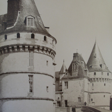 Séraphin-Médéric Mieusement (1840- 1905)  Château Tour d'angle, Mesnières, circa 1880s albumen print mounted on bookboard, inscribed, stamped 17 x 10.5 inches