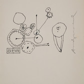 Untitled (Thinking 1), circa 1950s ink on paper, signed 11 x 8 .5 inches