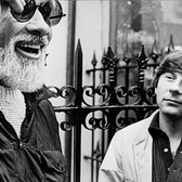 """Photograph by Hatami (1928-2017) William A. Fraker (director of photography) and Roman Polanski, New York City, on the set of """"Rosemary's Baby"""" photograph 1968 vintage gelatin silver print, signed, stamped 7.75 x 10.4 inches"""