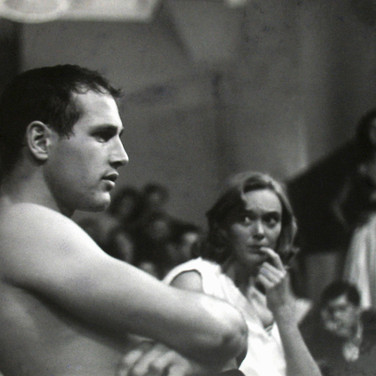 Roy Schatt [1909-2002]  Paul Newman in The Actors Studio  photograph 1955 [printed 1984]  gelatin silver print, signed, stamped  size > 12 x 16.5 inches  © Estate of Roy Schatt