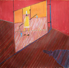 James Juthstrom (1925-2007) Untitled, circa 1990s acrylic on canvas 69 x 73 inches