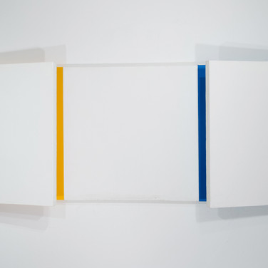 Charles Hinman Analogous Eclipse, 2010 acrylic on shaped canvas 36 x 108 x 11.5 inches