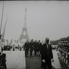 Jacques Lowe (1930-2001)  President Kennedy arriving at the Palais de Chaillot  photo June 1961 [printed later]  gelatin silver print, AP  paper size > 16 x 20 inches