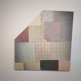 WILL INSLEY (1929-2011) Wall Fragment No. 88.1, 1988 70.5 x 72.5 inches acrylic on masonite