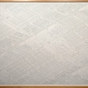 Will Insley (1929-2011) ONECITY Building A, Section A, Isometric, 1979-80 ink on ragboard 40 x 60 inches