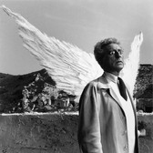 Lucien Clergue [1934-2014]  Jean Cocteau and the Sphinx, 1959 [printed later] gelatin silver print, edition of 30, signed, numbered  paper size > 12 x 16 inches