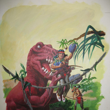 "Turok: Son of Stone  ""Andar's Helpful Honker"" George Wilson  Issue # 115/ May 1978  Watercolor, gouache on bookboard, 20 x 15 inches"