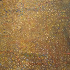 James Juthstrom (1925-2007) Untitled [Gold], circa 1980s  mixed media on paper 28.5 x 20 inches