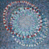 James Juthstrom [1925-2007]  Spinning Worlds, circa 1960s  acrylic on canvas,  50 x 55 inches