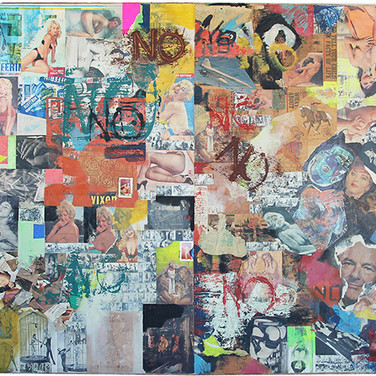Boris Lurie (1924-2008) Big NO Painting, 1963 paper collage and paint on canvas 65.5 x 85 inches