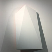 CHARLES HINMAN (b. 1932)  Emerald, 2011 acrylic on shaped canvas 46 x 28 x 6 inches