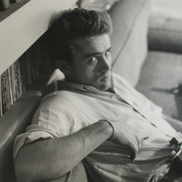 Roy Schatt [1909-2002]  James Dean with camera  photo 1954 [printed later]  gelatin silver print, edition of 65, signed  paper size > 20 x 16 inches  photo Roy Schatt CMG