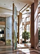 WARREN CARTHER  Prairie Boy's Dream  Investors Group, 1 Canada Centre, Winnipeg  Dichroic glass  Two towers, each: 35 x 12 x 3.2 ft.