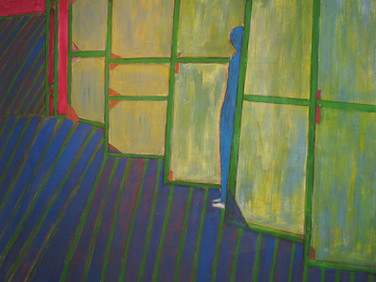 JAMES JUTHSTROM (1925-2007)  Untitled (Screens), circa 1980s  acrylic on canvas 63 x 66 inches