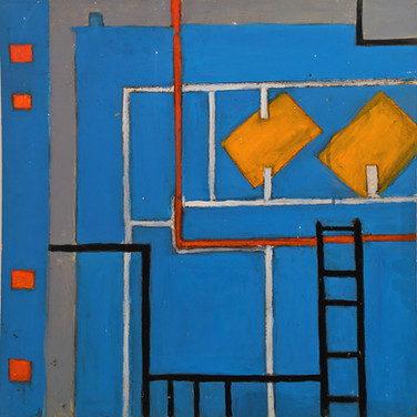 James Juthstrom (1925-2007) Untitled, circa 1970s oil on board 24 x 20 inches