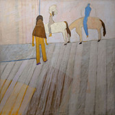 James Juthstrom (1925-2007) Untitled (Riders) circa early 1990s acrylic on canvas 40 x 40 inches