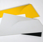Charles Hinman Sunflare, 1979  acrylic on shaped canvas  34 x 50 x 6 inches