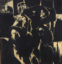 Boris Lurie (1924-2008)  Untitled, 1955-58  oil paint on canvas  41 x 39 inches