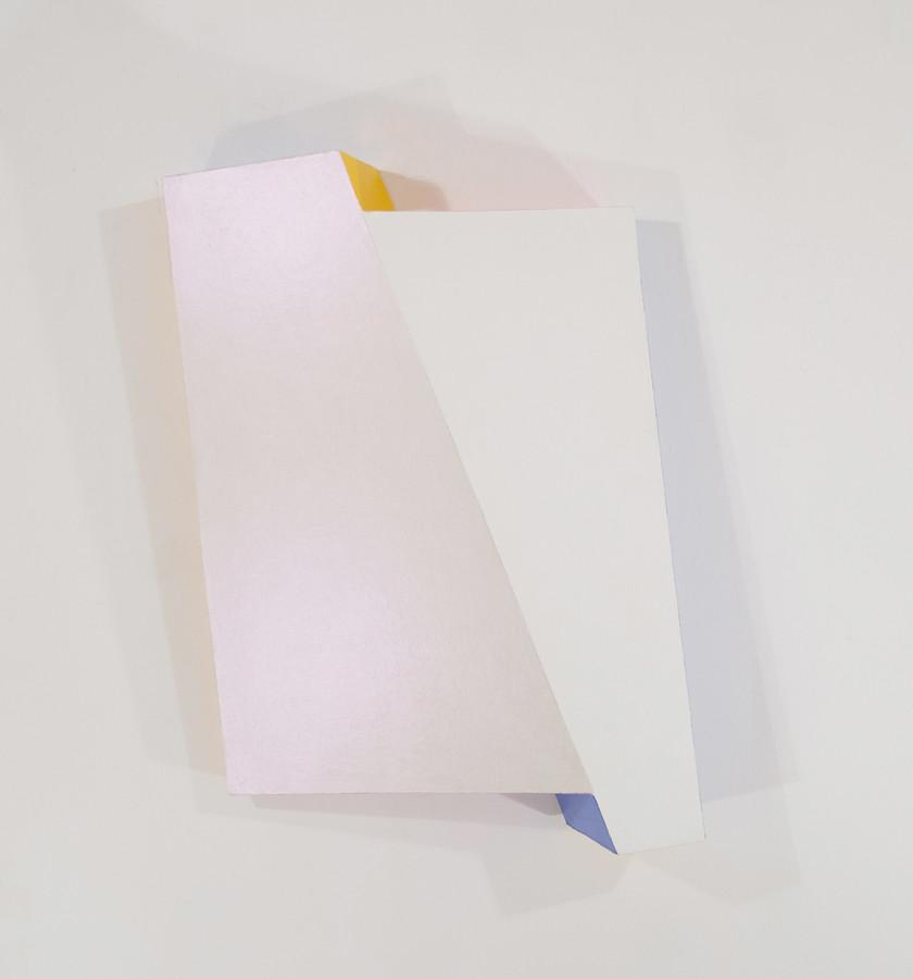 CHARLES HINMAN Reflector, 2008 acrylic on shaped wood Artwork: 43 x 33.5 x 8.75 inches | 109.2 x 85.1 x 22.2 cm