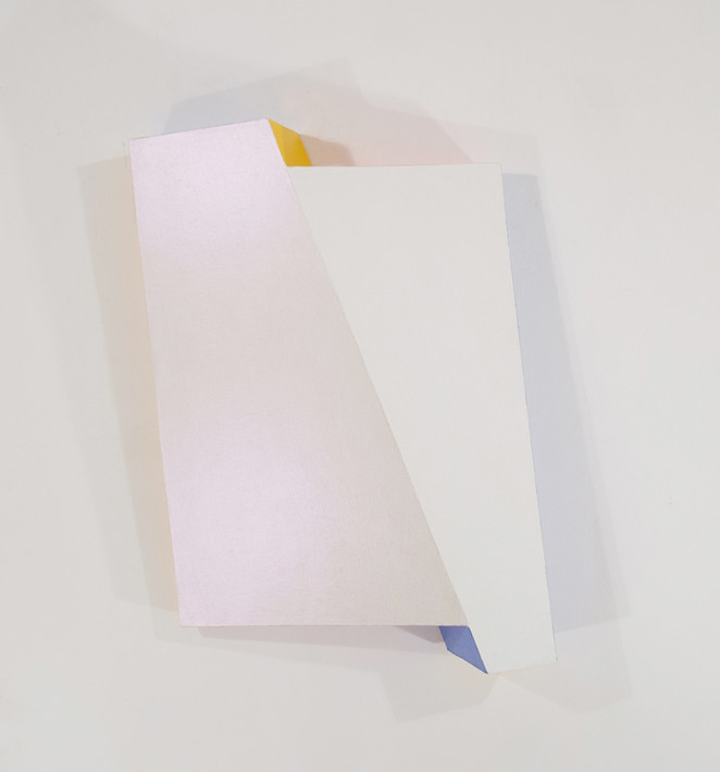 CHARLES HINMAN Reflector, 2008 acrylic on shaped wood Artwork: 43 x 33.5 x 8.75 inches | 109.2 x 85.1 x 22.2 cm