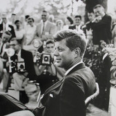 Jaques Lowe (1930-2001) John F. Kennedy, Omaha, Nebraska, Labor Day Weekend photo 1959 [printed later] gelatin silver print, signed, stamped paper size > 20 x 16 inches