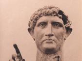 S. THOMPSON  Statue of Hadrian  1870's  albumen print  10.75 x 8.25 inches
