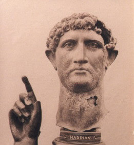 S. THOMPSON  Statue of Hadrian  1870's  albumen print  10.75 x 8.25 inches
