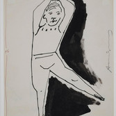 Andy Warhol  Untitled, 1958  ink on paper, signed, 11 x 8.5 inches