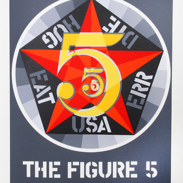 Robert Indiana  The Figure Five, 1971  serigraph, edition of 200, signed and numbered  39 x 32 inches