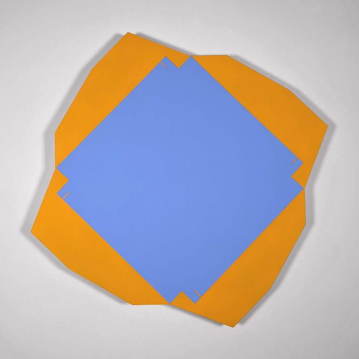 ALAN STEELE Fragment 5016, 2020 marine enamel, slate paint, and acrylic on wood Artwork: 25 x 25 x 2 inches | 63.5 x 63.5 x 5.1 cm Unique, Unframed