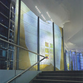 WARREN CARTHER  Sea of Time,  Lincoln House, Hong Kong  Dichroic glass  100 x 23 x 6 ft.