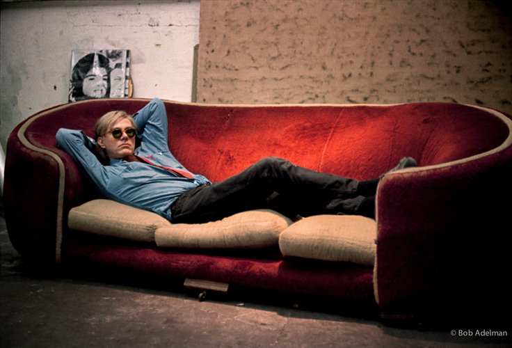 Bob Adelman - Andy Warhol on the Factory couch