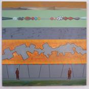 Ron Morosan Dual Quad Rational, 2017 acrylic on canvas 42 x 42 inches