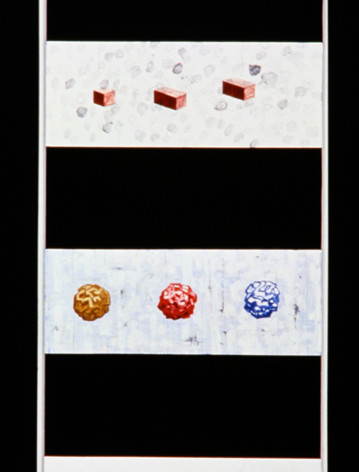 Ron Morosan Categorical Imperative, 1997 acrylic and oil on wood 80 x 24 inches