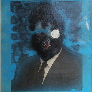 Boris Lurie (1924-2008) Altered Photo (Cabot Lodge), 1963 paint on paper mounted on canvas 29.25 x 24 inches
