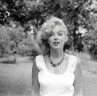 SAM SHAW [1912-1999]  Marilyn Monroe, Roxbury, CT, during her marriage with Arthur Miller  photo 1957 [printed later]  gelatin silver print, AP, stamped by the Estate paper size > 15 x 19 inches