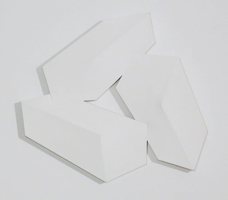 CHARLES HINMAN Cohesive Three, 1974 acrylic on shaped canvas Artwork: 32 x 34 x 6 inches | 81.3 x 86.4 x 15.2 cm