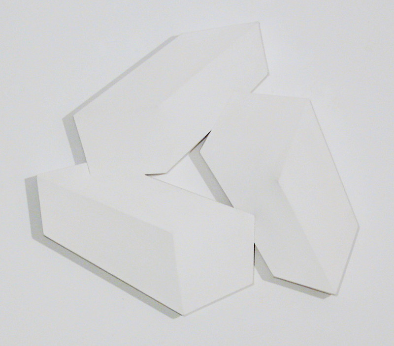CHARLES HINMAN Cohesive Three, 1974 acrylic on shaped canvas Artwork: 32 x 34 x 6 inches | 81.3 x 86.4 x 15.2 cm