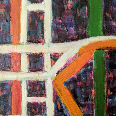 James Juthstrom (1925-2007) Detail of Fire Escape on Broome Street, January 30, 1968 acrylic on four canvas panels 72 x 202 inches