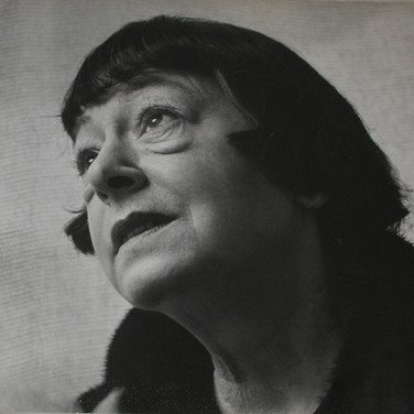 Roy Schatt [1909-2002]  Dorothy Parker, poet and short story writer  photograph circa 1955  gelatin silver print, mounted, signed, stamped  size > 12.5 x 14.25 inches  © Estate of Roy Schatt