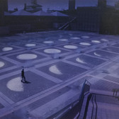 NOBUHO NAGASAWA Tsukuyomi, 1998-2000 Saitama, Japan Photography by Nobuho Nagasawa archival pigment print (printed later), edition of 12 paper size > 18.75 x 12.5 inches  Public Art (permanent) by Nobuho Nagasawa. Commissioned by the Tokyo Metropolitan Government, Japan.  Phosphor, granite, concrete, mist fountain.