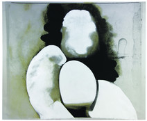 Boris Lurie (1924-2008) Altered Photos: Pinup (Dismembered figure), c.1963  photo emulsion and acrylic paint on canvas  46 x 56 inches