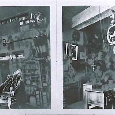 Roger Welch Collector's Home, 1979 diptych, watercolor ink on photograph mounted on museum board 24 x 60 inches Private collection, New York