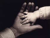 JOHN HATLEM  Baby and Father's Hand  1939  vintage gelatin silver print  8 x 10 inches