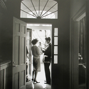 Jacques Lowe (1930-2001)  The Kennedys, Georgetown  photo 1959 [printed later]  gelatin silver print, signed  paper size > 20 x 16 inches
